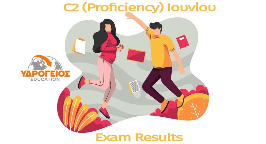 Αποτελέσματα C2 (Proficiency) NOCN Ιουνίου 2021